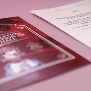 Ricci Hall :: invitation design for renovation completion ceremony