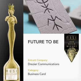 Muse Creative Awards 2019 | Gold recognition | Corporate category | Business Card sub-category